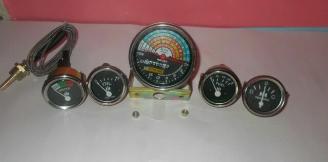 IH Farmall 460 560  Gas/Diesel  Tachometer Temp Oil Pressure  Ampere  Fuel Gauge