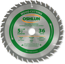 Oshlun Sbw 055036 Circular Saw Blades 5 12 Inch Tooth Atb Finishing And Saw And