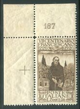 1926 Regno Italia 5 lire bruno numero di tavola 187 spl MNH **