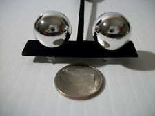 ".50"" large silver pearl clip on earrings non pierced basketball wives"