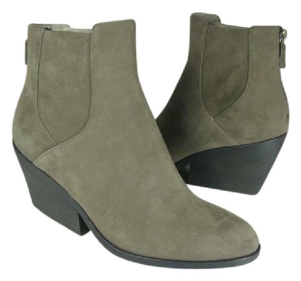New sz 8.5 EILEEN FISHER ankle Stiefel grau Shadow Suede leather Stiefelies  'Peer'
