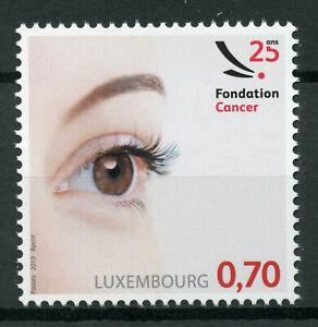 Lussemburgo-2019-Gomma-integra-non-linguellato-Fondation-Cancro-Foundation-1v-Set-Timbri-Medico