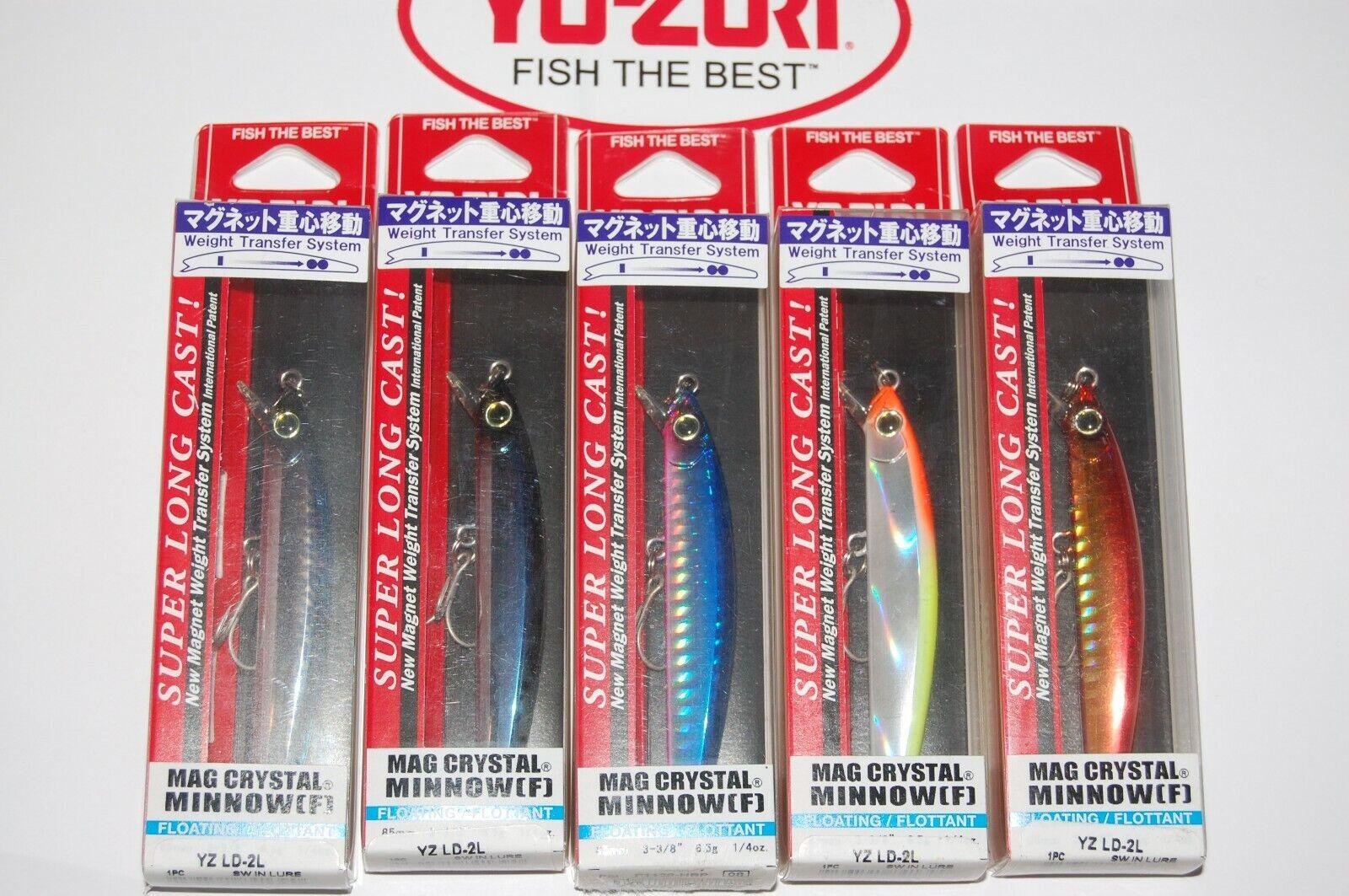 5 Señuelos yo  zuri Mag Crystal Minnow 3 3 8  1 4oz f1128 c-57 Surtido Azul Mack  ahorra hasta un 30-50% de descuento