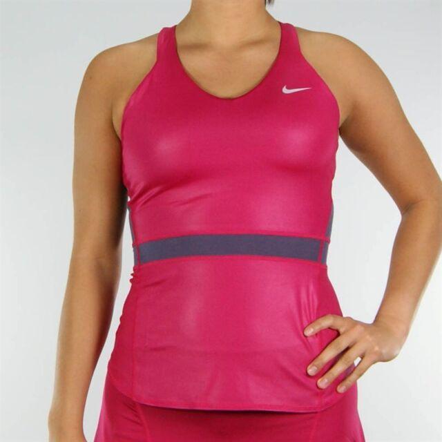 new product 08ed5 477cd Nike Womens Dri-fit Premier Maria Sharapova Tennis Tank Top Fuschia Pink