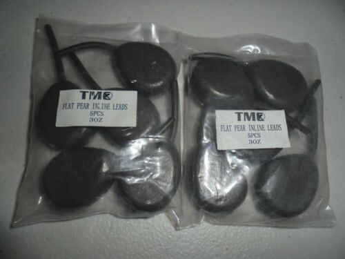 Carp Free Gift Sizes 3oz Pack of 10 x TMC Flat Pear Inline lead weights