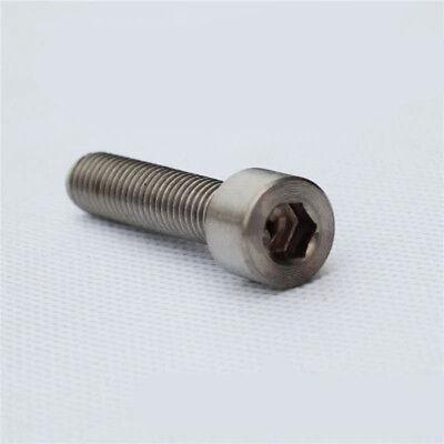 5-40mm Cylindrical Head Hexagonal Socket Screws Bolts 10pcs Titanium Alloy M3