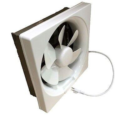 """Plastic Shutter Exhaust Fan 6"""" 8"""" 10"""" 12"""" Garage Shed Pole ..."""