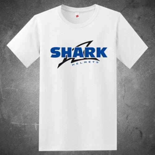 New SHARK Helmets Racing Sports Logo Men/'s White T-Shirt Size S to 3XL