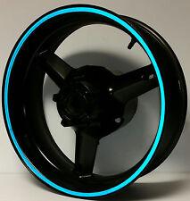 BLUE REFLECTIVE WHEEL STRIPES RIM STICKER TAPE DECAL KAWASAKI NINJA EX300R 300R