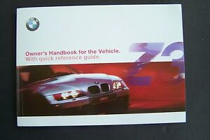 2001 bmw z3 roadster owners manual e36 coupe 3 series new factory rh ebay com 2000 bmw z3 owners manual download 2001 bmw z3 owners manual free download