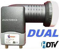DUAL STANDARD LINEAR SATELLITE LNB FTA DISH LNBF 10750 FREE TO AIR HD GALAXY 19
