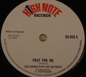 MAX-ROMEO-THE-GAYTONES-PRAY-SKA-SKINHEAD-ROCK-STEADY-REGGAE-UK-HIGH-NOTE-7-034