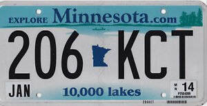 AUTHENTIC-USA-2014-MINNESOTA-LICENSE-PLATE-10000-LAKES