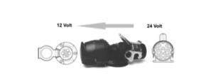 Spannungsreduzierer-15-poliger-Dose-LKW-24-V-auf-7-poliger-Stecker-12-V