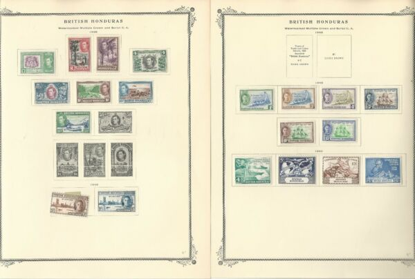 British Honduras Collection 1865-1949 on 7 Scott Specialty Pages