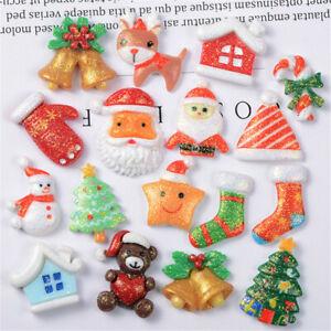 Random-2-3cm-Christmas-Glitter-Embellishments-Resin-Cabochons-Decors-10-pcs-Pack
