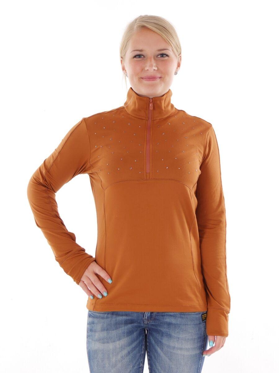 CMP Sweatshirt Freizeitshirt Longsleeve brown Kragen Stretch leicht