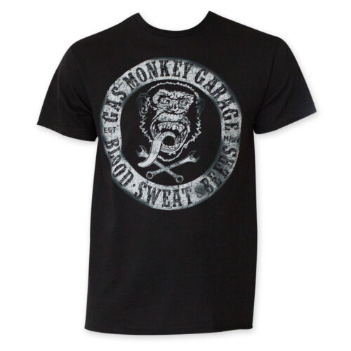 Gas Monkey Blood Sweat And Beers Tee Shirt Black