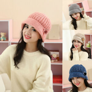 727c433c9897d 2019 Fashion Womens Ladies Knit Crochet Beanie Hat Winter Warm Cap ...