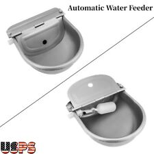 Cattle Sheep Horse Waterer Farm Large Livestock Supplies Stainless Steel Water Trough Bowl Automatic Drinking for Horses Goats Sheep Cattle SOULONG Automatic Animal Waterer