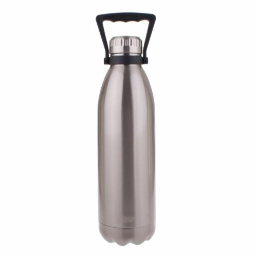 Oasis Double Walled Vacuum Insulated Stainless Steel Water Drink Bottle Silver