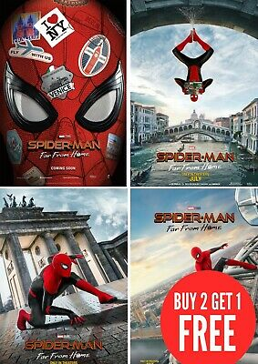 Spider Man Far From Home Movie Large Poster Art Print Maxi A0 A1 A2 A3 A4