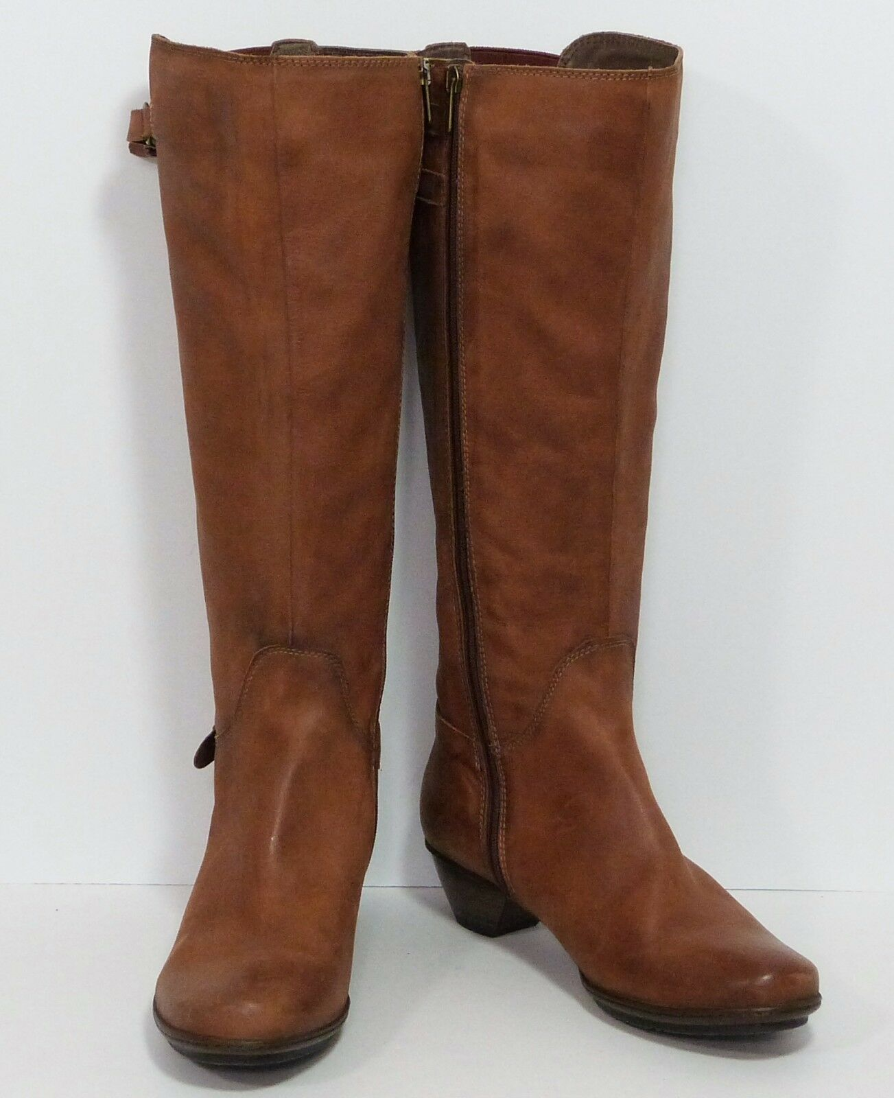 NWOB Pikolinos Carmel Brown Leather Leather Leather Calf High Riding Boots Womens 41 EUR 10.5 US d57cfe