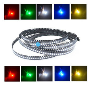1206-SMD-SMT-LED-Red-Green-Blue-Yellow-White-5-Colours-Light-Super-Bright-LED
