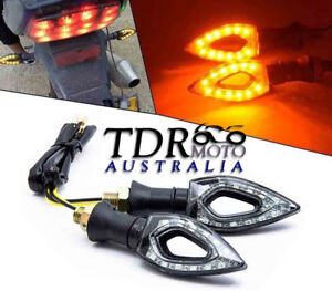 2x Motorcycle Led Indicators For Hyosung Yamaha Honda Suzuki Triumph Ninja Bmw Ebay