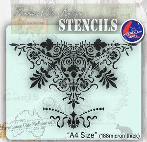 Mylar-Furniture-Stencil-26cm-Mandala-Wall-Stencil-Shabby-Chic-French-Stencil