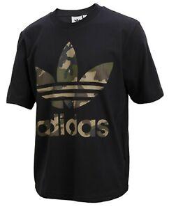 Adidas Men Originals CAMO Shirts S/S Training Black Jersey Tee GYM ...