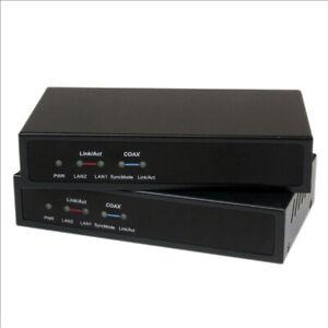 Startech-com-EOC1110K-2-4km-Gigabit-Ethernet-Coax-Cpnt-Extender