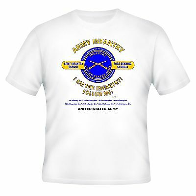 "U.S. ARMY INFANTRY * FORT BENNING, GA ""FOLLOW ME! "" CAMPAIGN SHIRT"