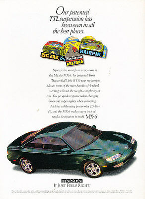 1989 Mazda MX-6 and Acura Integra Classic Vintage Advertisement Ad D83 BF