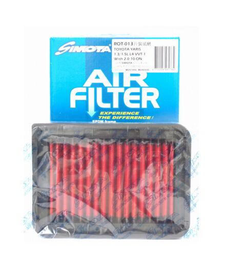 1.8L L4 F//I 09-11 Power Air Filter for TOYOTA COROLLA 1.4L//1.6L L4 F//I 07-08