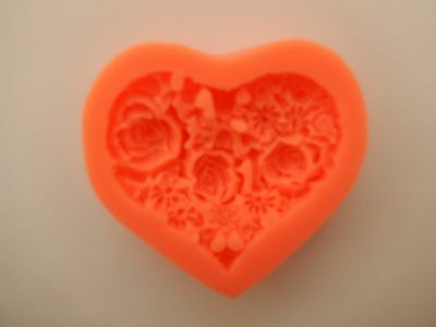 Silicone Heart Shape Mould Cake Decoration Chocolate Valentines Wax Fimo Soap