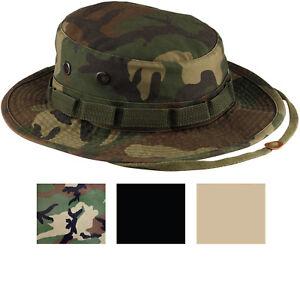 Heavy Duty Boonie Hat Military Jungle Bucket Cap Wide Brim Sun ... d981f00b3a43