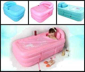 Outdoor Inflatable Bath Spa Bathtub Portable Foldable