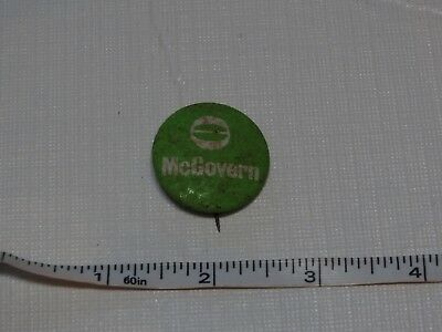 McGovern campaign President pin button RARE votes unlimited green vintage RUST