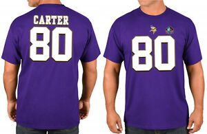 Cris Carter Minnesota Vikings  80 Majestic NFL T-Shirt Navy Jersey ... d0a572ec0