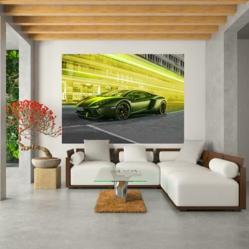 Poster Wanddekoration Plakat Grafik Gelber Lamborghini Nr HC2649