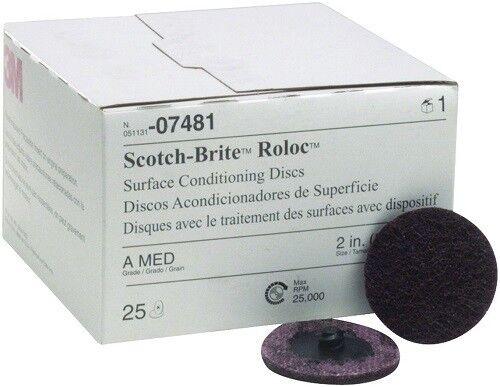 3M 07481 2 Medium Scotch Brite Roloc Surface Conditioning Discs