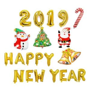 2019-Happy-New-Year-Foil-Balloons-Merry-Christmas-Banner-BALLON-Home-Decor-MG