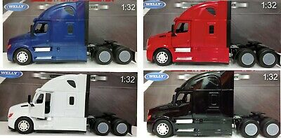 WELLY 1:32 TRANSPORTER FREIGHTLINER CASCADIA WITH CONTAINER DIE-CAST BLUE 32696
