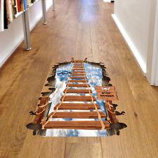 Pavimento 3D Adesivi per bambini stanza PONTE Pavimento Muro Adesivo Rimovibile murale Decor