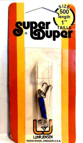 Luhr-Jensen Vintage Super Duper Chrome #1303-500-153 Blue Fishing Lure