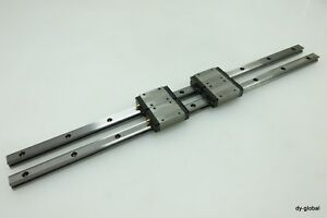 THK-Used-SR15W2UU-520L-LM-Guide-Linear-Bearing-2Rail-4Block-CNC-route-NSK-IKO