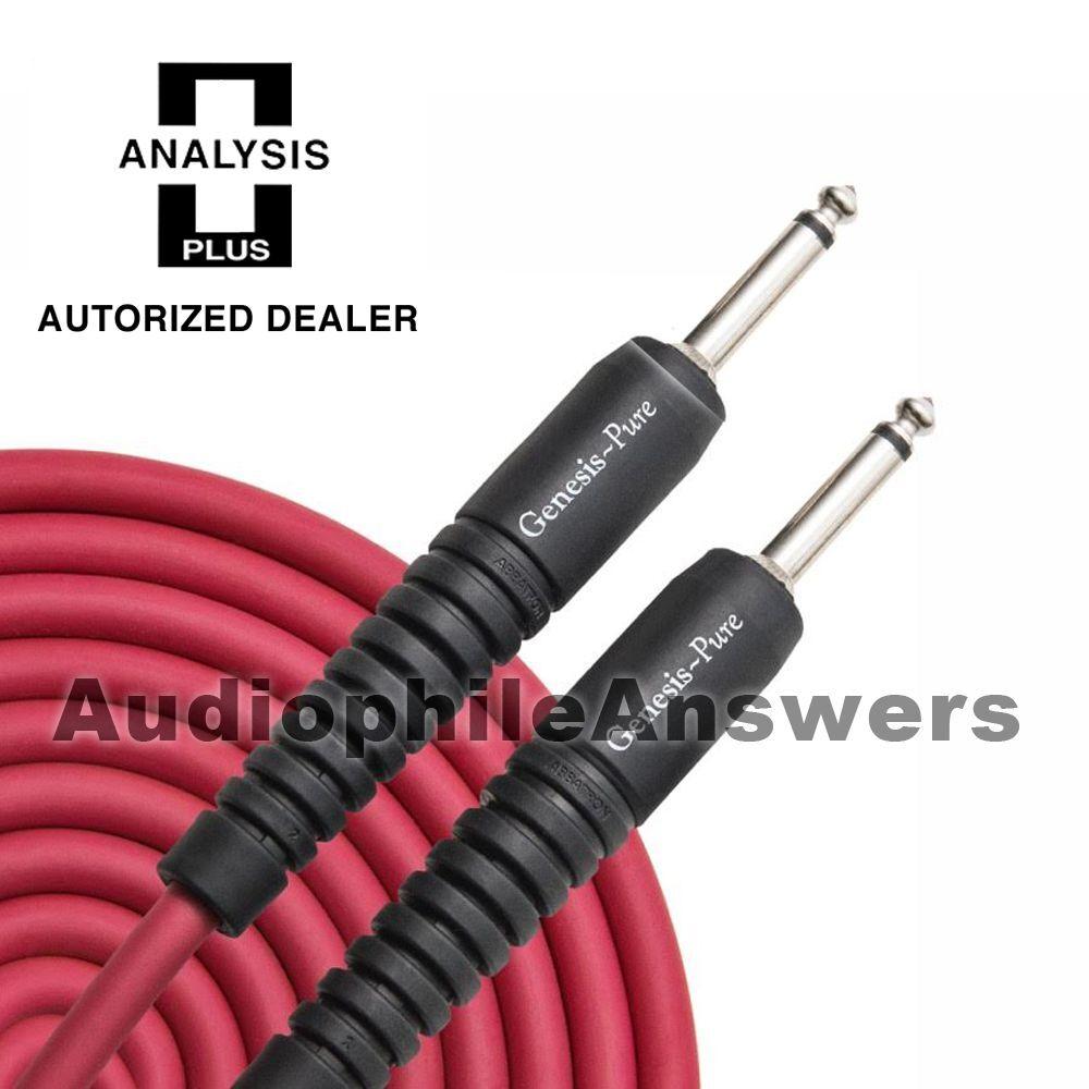 Analysis Genesis Negro Puro Puro Puro Cable De Instrumento Plus Recto enchufes estándar 30ft 2b1bdd