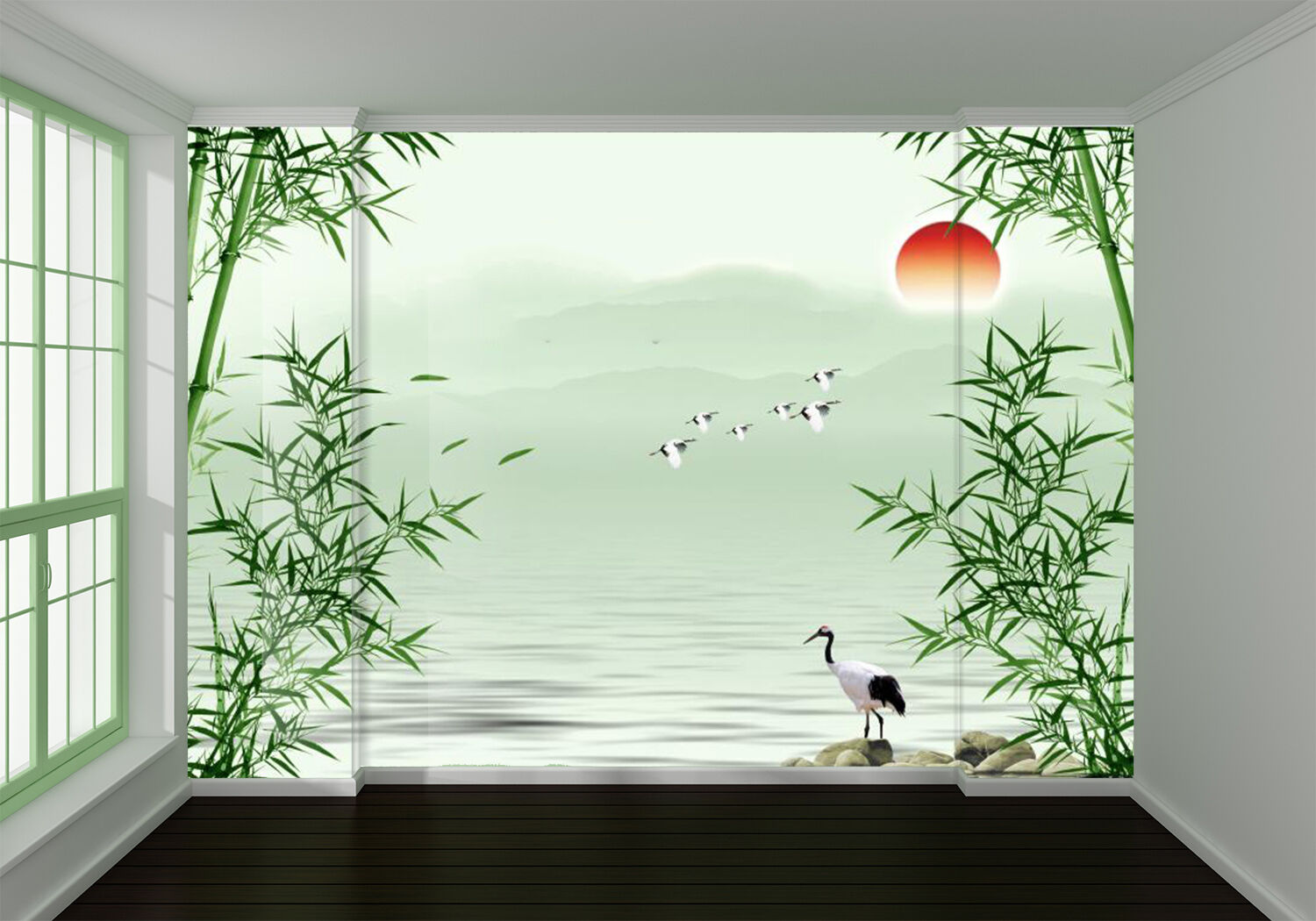 3D Animal bamboo sun nature Wall Paper Print Decal Wall Deco Indoor wall Mural