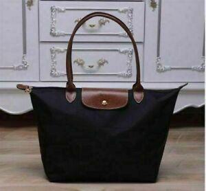 Women-039-s-New-Longchamp-Le-Pliage-Tote-Bag-Nylon-Black-Handbags-size-Large